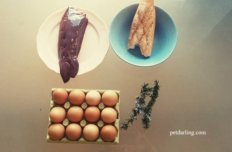 revuelto huevo para perros receta