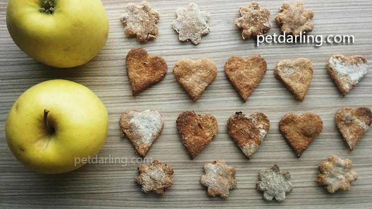 galletas para perros de manzana y canela